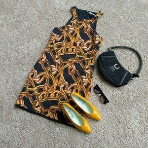 Trina Turk Vintage gold chain dress.